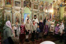 7 декабря 2020 года в день Праздника Рождества Христова воспитанники Воскресной школы поздравили священников и прихожан с праздником